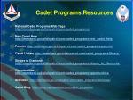 cadet programs resources1