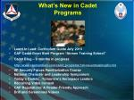 what s new in cadet programs
