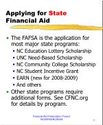 applying for state financial aid