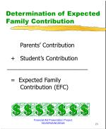 determination of expected family contribution