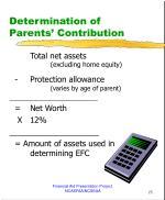 determination of parents contribution1