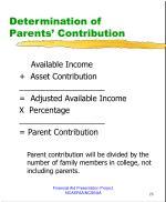 determination of parents contribution2