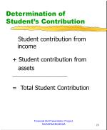 determination of student s contribution2