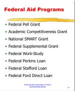 federal aid programs