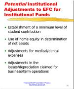 potential institutional adjustments to efc for institutional funds
