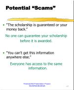 potential scams