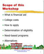 scope of this workshop