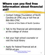 where can you find free information about financial aid