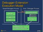 debugger extension execution model