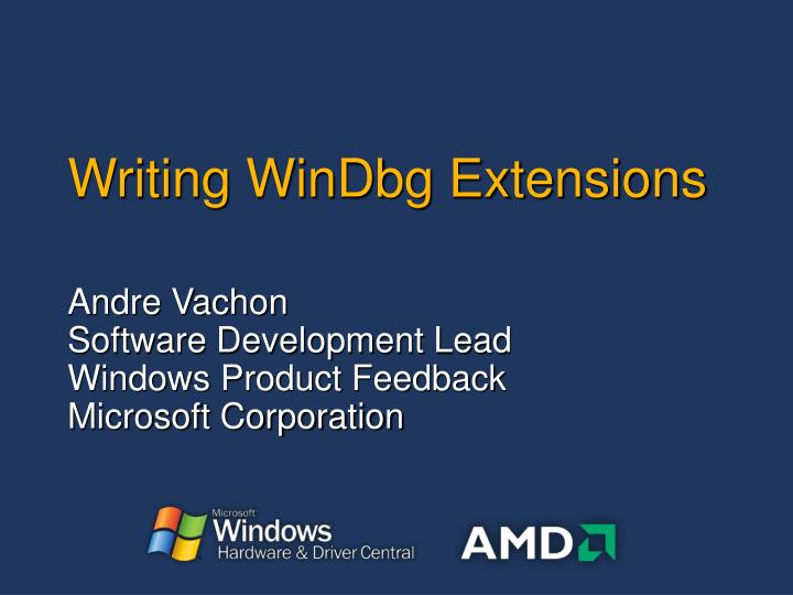 writing windbg extensions n.