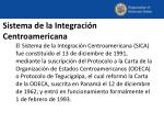 sistema de la integraci n centroamericana