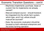 economic transition questions cont d
