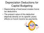 depreciation deductions for capital budgeting