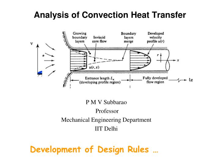 analysis of convection heat transfer n.