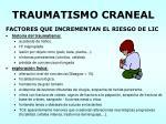 traumatismo craneal