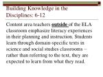 building knowledge in the disciplines 6 12