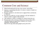 common core and science