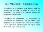 servi o de psicologia