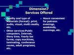 dimension7 services offered