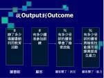 output outcome