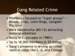 gang related crime