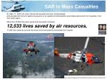 sar in mass casualties