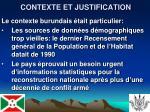 contexte et justification