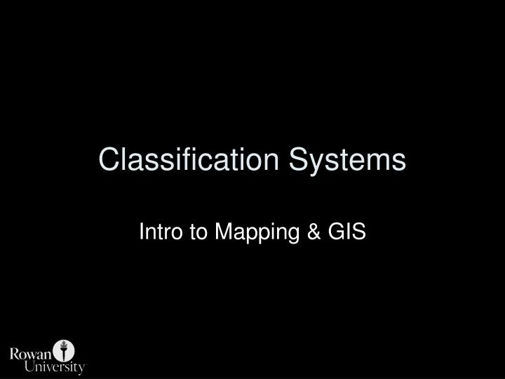 classification systems n.