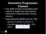 geometric progression classes