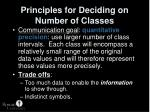 principles for deciding on number of classes1