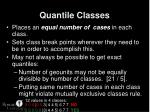 quantile classes