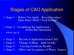 stages of cao application