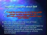 negative thoughts about self