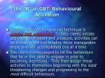 the b in cbt behavioural activation8