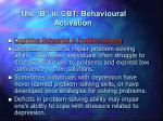 the b in cbt behavioural activation9