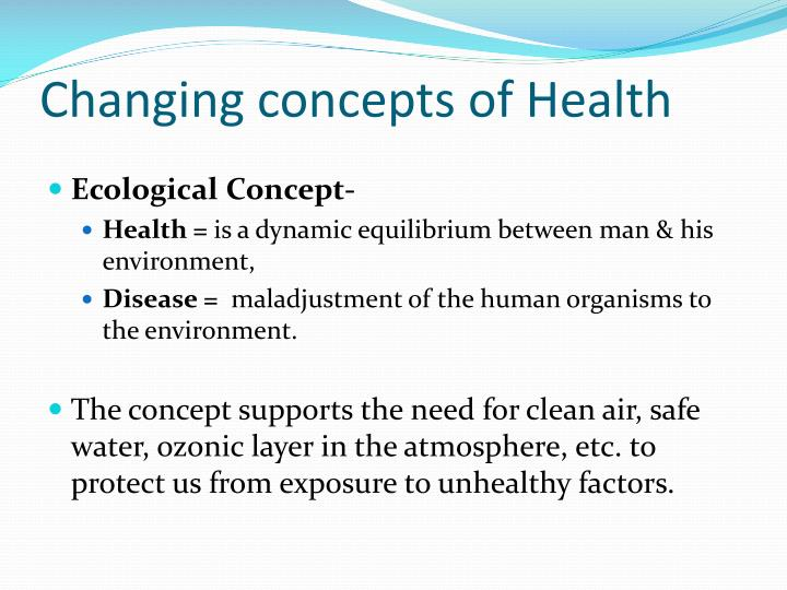 concepts of health