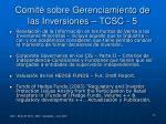 comit sobre gerenciamiento de las inversiones tcsc 5