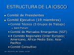 estructura de la iosco