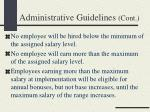 administrative guidelines cont