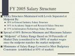 fy 2005 salary structure