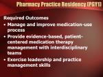 pharmacy practice residency pgy1