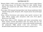 sistem mutu