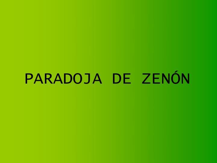 Paradoja de zen n