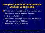 comparaison environnementale thanol vs biodiesel1