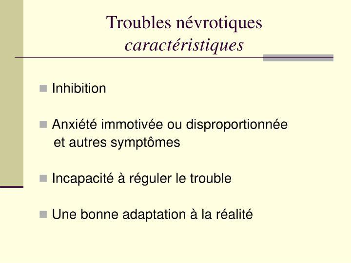 Troubles névrotiques