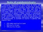 note di epidemiologia