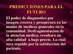 predicciones para el futuro