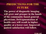 predictions for the future