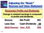 adjusting the basic sources and uses statement1