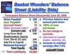 basket wonders balance sheet liability side1